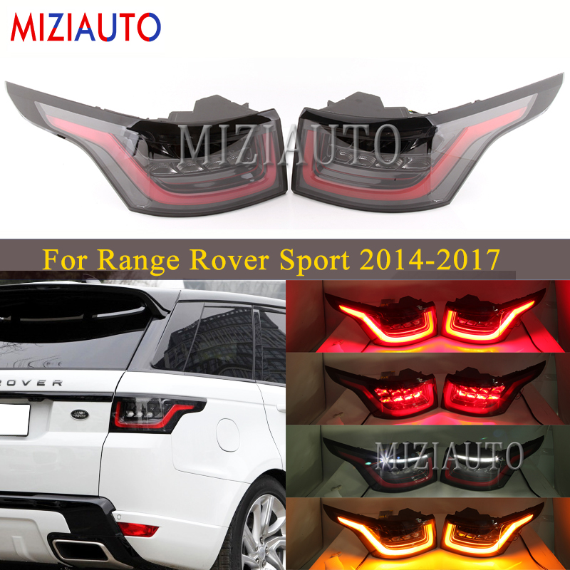 1 Set LED Rear Tail Light For Land Rover For Range Rover Sport 2014-2017 Tuning Parts Old To New Upgraded 2018 Tail Lights Stop