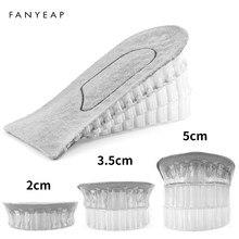 1 par palmilhas de sapato respirável meia palmilha aumentar calcanhar inserção sapatos esportivos almofada unisex 2-4cm altura aumentar palmilhas