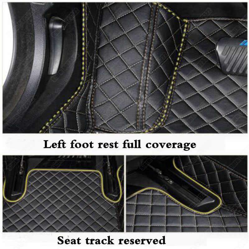 高級革の車の足マット起亜フォルテリオ 3 フォルテ ceed スティンガー車のフロアマット自動車カスタムカーペット