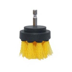 Image 2 - 3 peça conjunto de detergente banheira escova carro pp cerda broca acessório ferramenta limpeza banheira carro esteira ferramenta limpeza elétrica