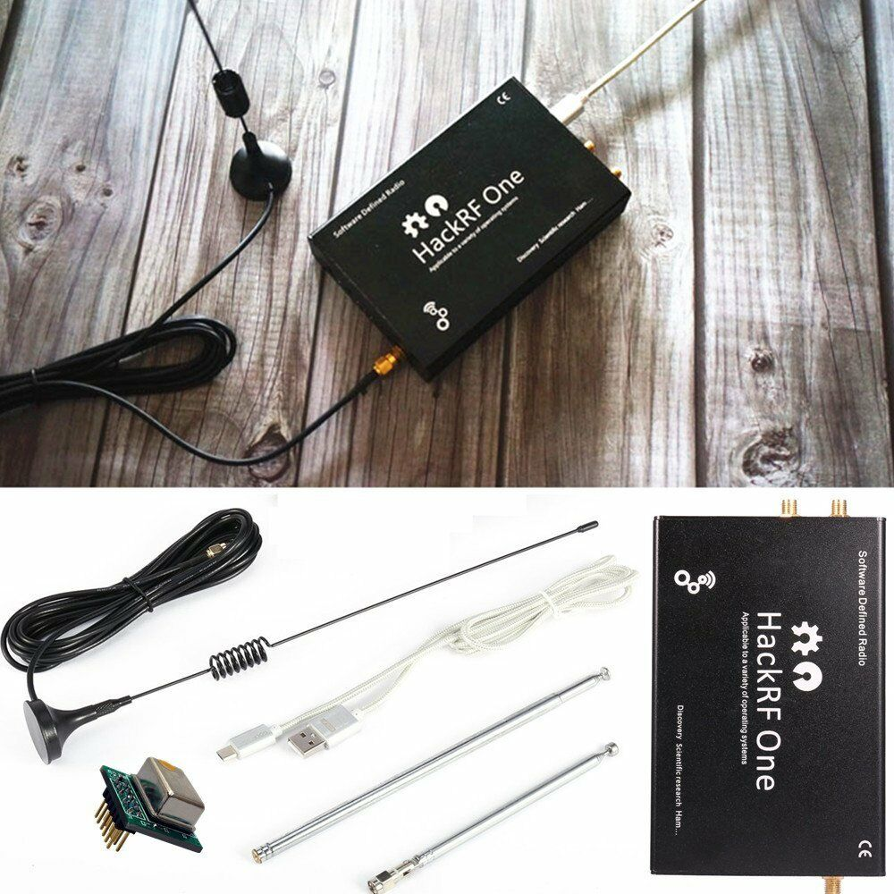 2019 plataforma HackRF Um usb SDR Software Defined Radio 1MHz a 6GHz demo board + TCXO + de Metal caso + Antena