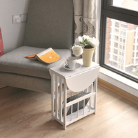 360 Degrees Rotatable Removable folding round coffee table tea desk side table end console table magazine rack pf92115