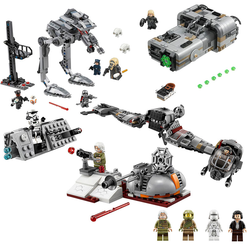 NEW 10913 Star Wars Defense Of Crait Building Blocks Bricks Toys Gift For Children 773Pcs Compatible With Movie 75202
