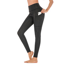 High Waist Fitness Leggings Women High Elastic Push Up Black Leggings Women Workout Pants with Pockets Slim Sportswear Jeggings