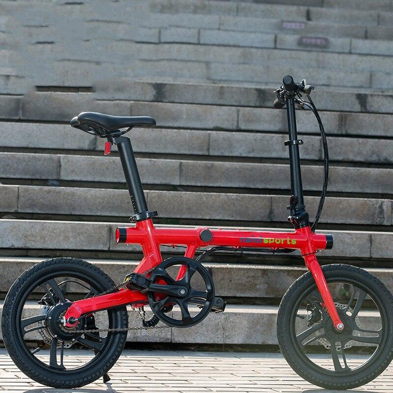 16 дюймовый Электрический велосипед для взрослых двухколесный Электрический велосипед 350 Вт 36В мини складной портативный Электрический велосипед|Электровелосипед|   | АлиЭкспресс