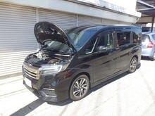 Для 2015  honda шаг wgn rp3 мини Ван передний капот модифицировать