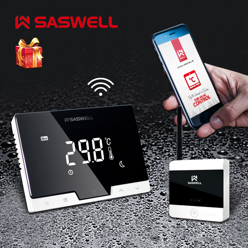 SASWELL WiFi Smart Thermostat Controller For Gas Boiler Room Thermostat Weekly Programmable
