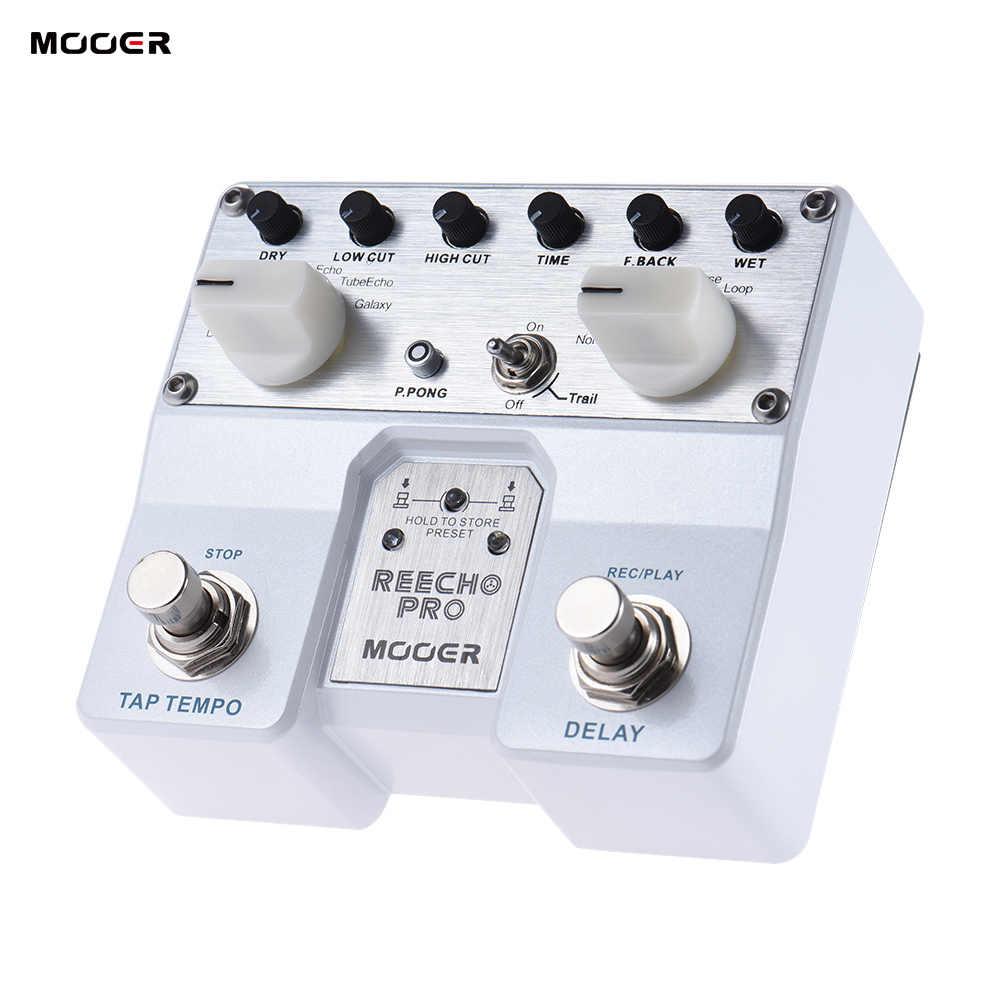 MOOER Reecho Pro цифровые гитарные педали с эффектом Delay Твин Footswitch 6 эффектами задержки