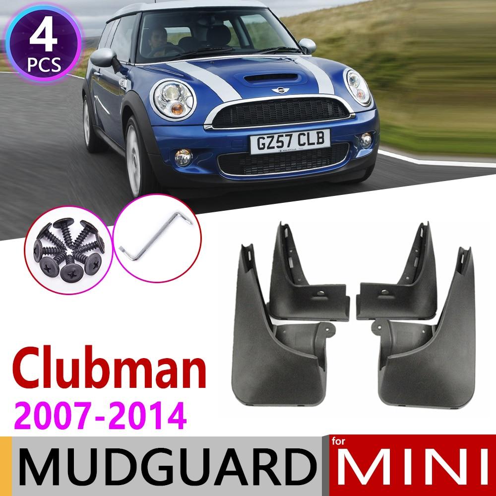 Car Mudflap For Mini Cooper Clubman R55 R56 2007~2014 Fender Mud Guard Flaps Mudguards Accessories 2008 2009 2010 2011 2012 2013
