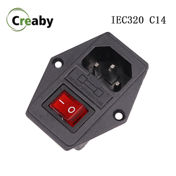 цена на 10A 250VAC IEC320 C14 Inlet Connector Plug Power Socket 10A Fuse Holder Socket Male Connector ON OFF 2 Position 3 Pin Switch
