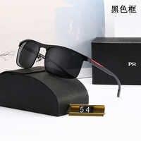 Marque de luxe lunettes de soleil hommes haut aaa mode femmes rétro lunettes alliage cadre conduite polariseur Police lunettes noires Gafas de sol
