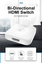 4K przełącznik Hdmi dwukierunkowy Hdmi HDMI przełącznik dwukierunkowy 2 w 1 na zewnątrz 4K HD rozdzielacz rozdzielacz HDMI dla PS4 TV pudełko Adapter bezprzewodowy tanie tanio centechia Other Audio i Wideo 1080 p Pojedyncze Brak HDMI Switch 1pcs dropshipping wholesale