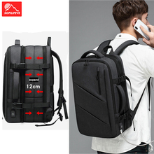 купить Expandable Travel Bag Luggage USB 17'' Laptop Backpack Men Women Outdoor Camping Hiking Backpack Male Female School Bag Rucksack дешево