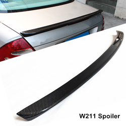 Voor E Klasse W211 Auto Spoiler 2003-2009 E-Klasse E260 E300 E350 Amg Stijl Spoiler Full Carbon fiber Kofferbak Wing Lip Spoiler