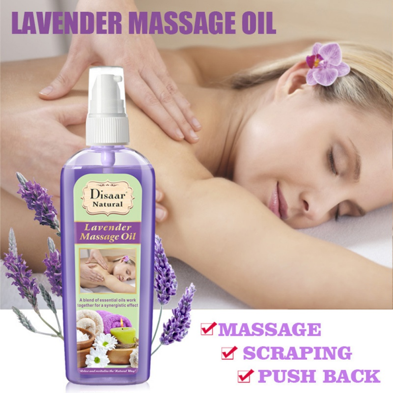120ml Natural Plant Essential Oil Anti-aging Ginseng Lavender Oil Body Spa Relaxation Massage Oil Moisture Relief Pain TSLM1