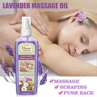 120ml Natural Pure Botanical Therapy Essential Oil Anti-aging Ginseng Lavender Oil Body Spa Relaxing Massage Oil TSLM1