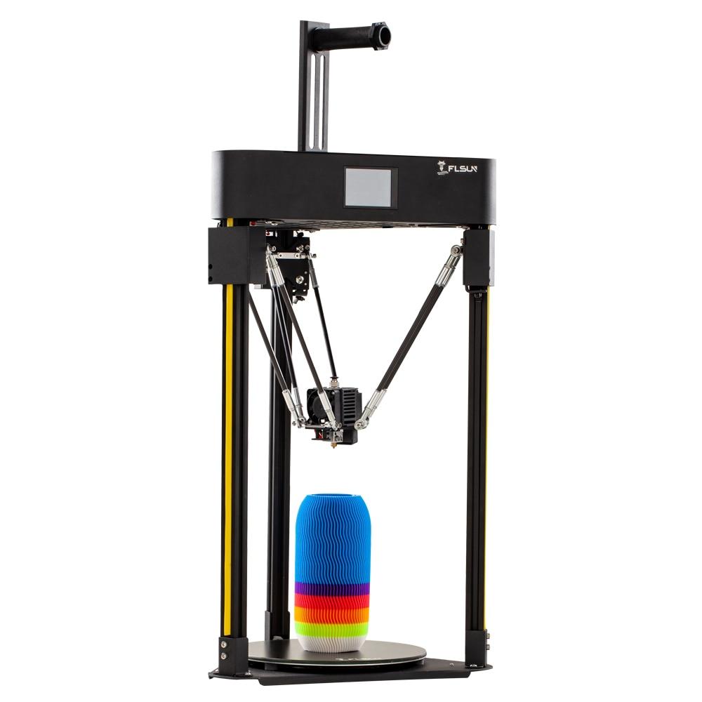 Flsun Q5 3D printer Delta Auto-Level Sensor Resume TFT 32bits board Kossel Titan extruder