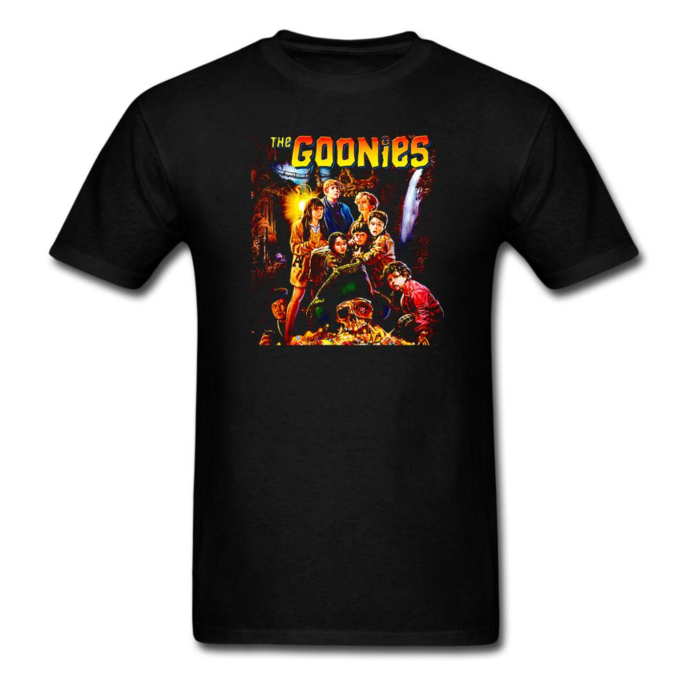 The Goonies Skull Movie poster Never Say Die Funny T Shirt Tee Cotton Short Sleeve Tshirt USA SIZE image
