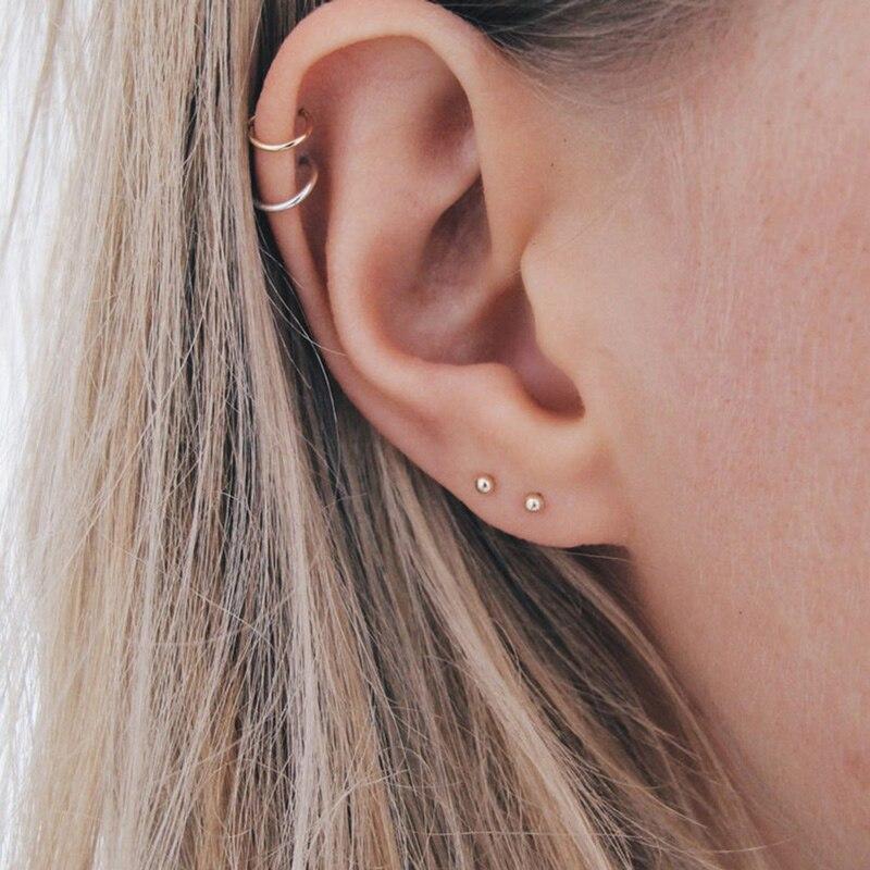 New Style Stainless Steel Earrings for Women Minimalist Small Stud Earrings Set Fashion Jewelry