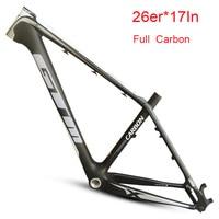 Full Carbon Disc Brake Matte 26er Mountain Bike Frame 16/17inch Track MTB Bicycle Frame