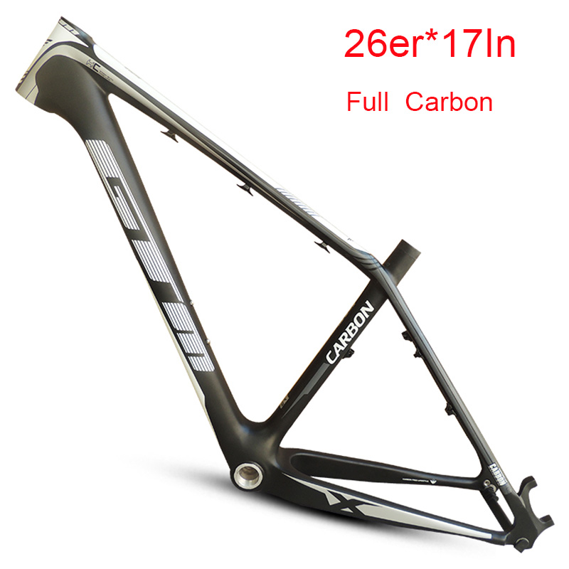 Full Carbon Disc Brake Matte 26er Mountain Bike Frame 16/17inch Track MTB Bicycle Frame