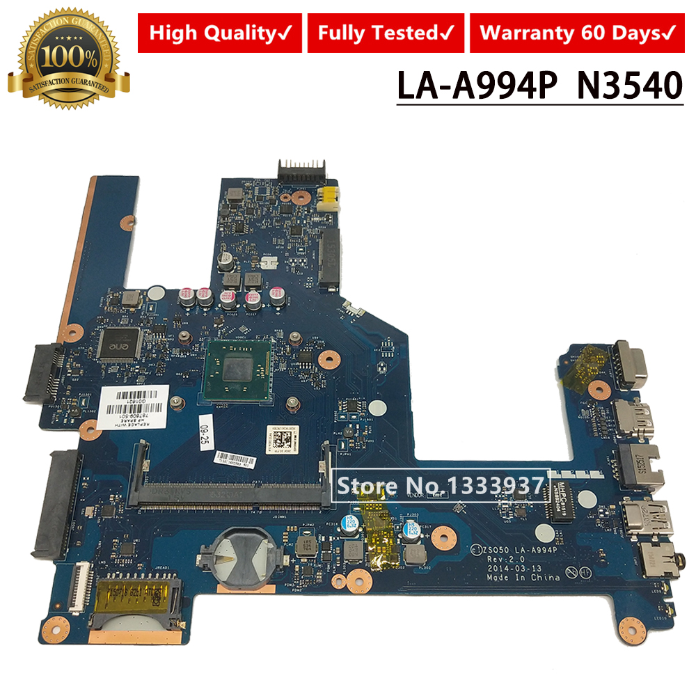 787809-501 Mainboard For HP 15-R 250 G3 256 G3 15r 250-G3 Laptop Motherboard N3540 SR1YW <font><b>ZS050</b></font> <font><b>LA</b></font>-<font><b>A994P</b></font> 787809-001 787809-601 image
