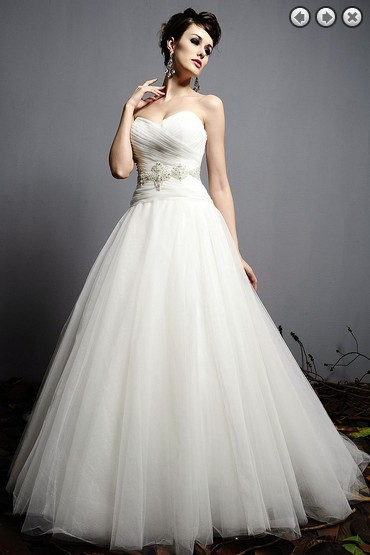 Free Shipping Crystal Belt Sexy Sweetheart Tulle Vestido De Noiva Renda 2014 New Fashionable Romantic Wedding Dress Bridal Gowns