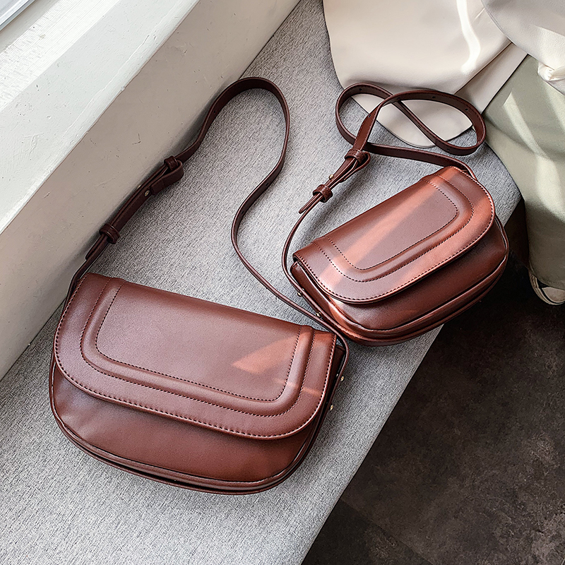 Simple PU Leather Crossbody Bags For Women 2020 Fashion Shoulder Messenger Bag Lady Travel Handbags And Purses