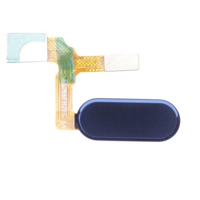 Para huawei honor 9 preto/azul/cinza/cor ouro impressão digital casa botão cabo flexível