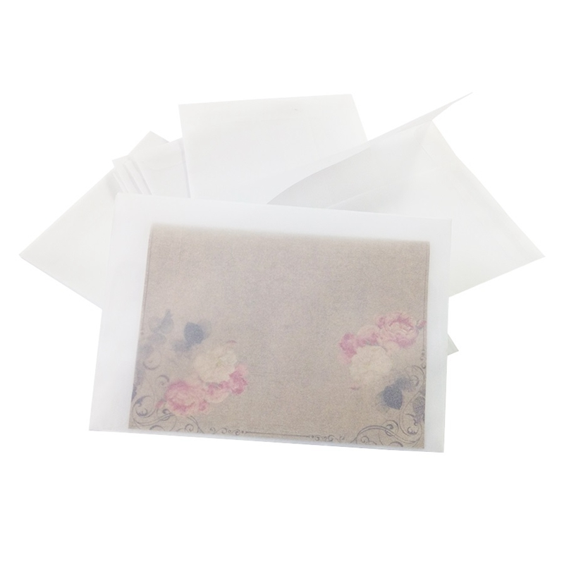 Image 3 - 100Pcs/Lot Blank Translucent Vellum Envelopes Diy Multifunction Gift Card EnvelopePaper Envelopes   -