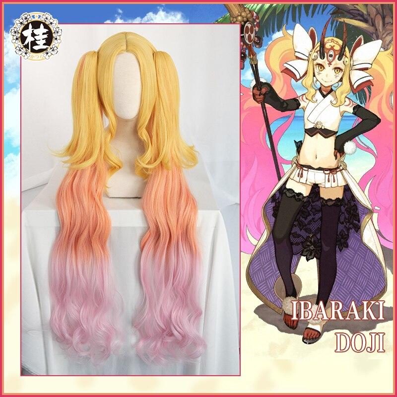 UWOWO Ibaraki Doji Cosplay Wig Fate Grand Order  FGO Berserker Women Anime Fate Grand Order Cosplay Wig Ibaraki Doji