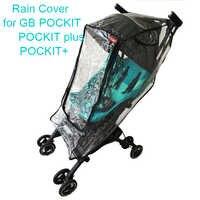Carrinho de criança capa de chuva para goodbaby pockit guarda-chuva carro capa para gb pockit + carrinho à prova vento roupas acessórios do trole