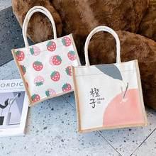 Saco de lona japonês bolsa feminina outono e inverno 2020 moda estilo coreano crossbody pequena bolsa para lona feminina sacola