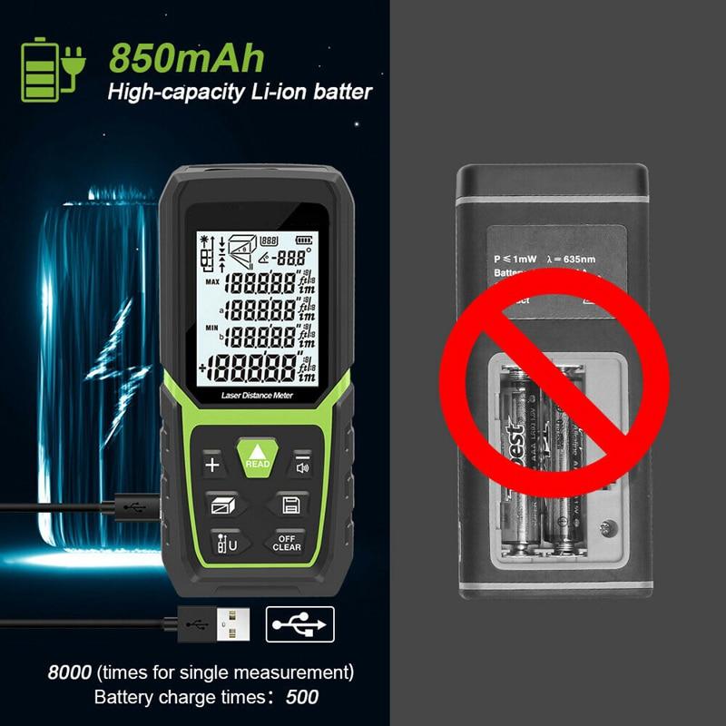 PINTUDY Maschine Laser-entfernungsmesser Abstand Meter Range Finder Messen 165Ft/50M + Li Batterie Höhe Entfernungsmesser Digitale Laser