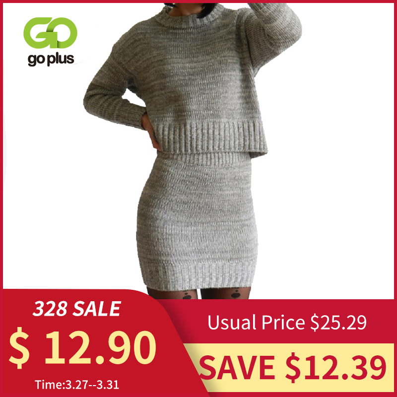 Winter Knitted Women's Suit Two Piece Skirt Set Women Clothes Ropa Mujer Conjunto Feminino Conjuntos De Mujer Vetement Femme