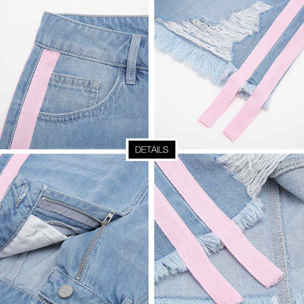 MetersBonwe джинсовая юбка с высокой талией трапециевидная мини-юбка женская потертая стандартная юбка лента 2019 Лето Новое поступление