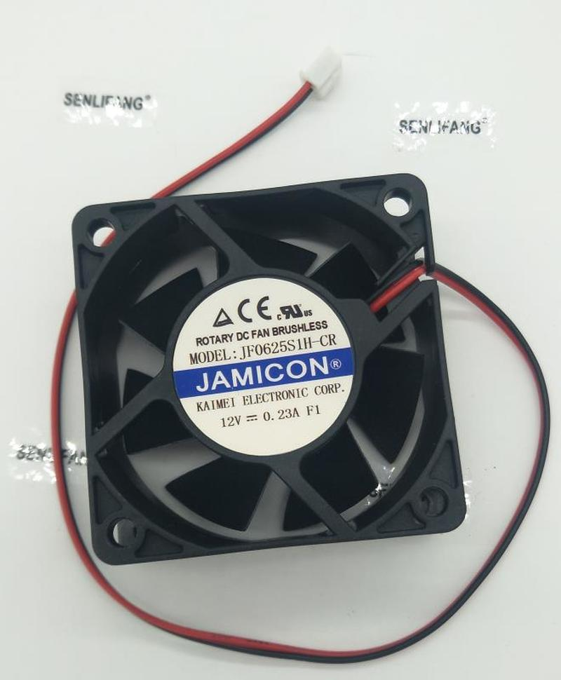 For JF0625S1H-CR Inverter Mute Cooling Fan DC 12V 0.23A 6025 6CM 60*60*25mm 2 Wires Free Shipping