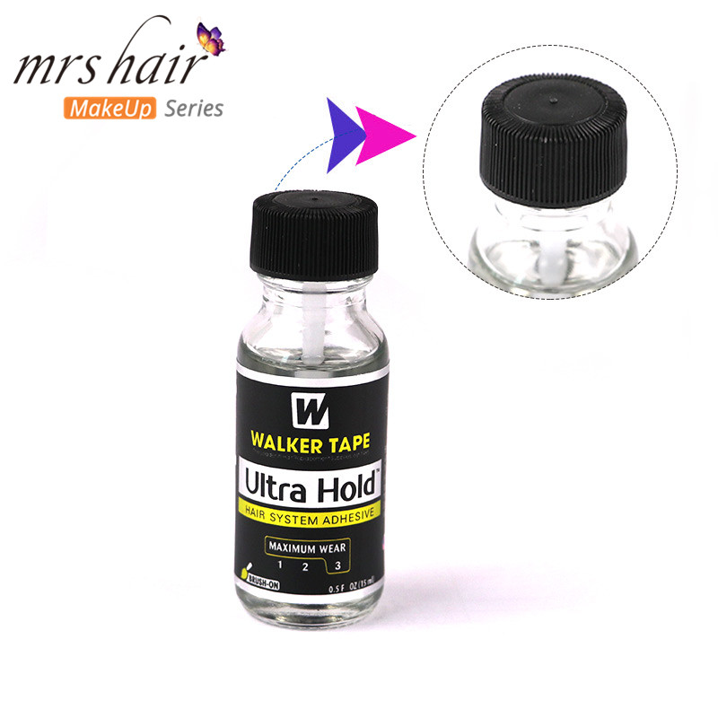 0.5floz 15ml Ultra Hold Glue Men Toupee Tape Hair System Adhesives Brush For Lace Wig/Toupee Soft-bond And 1 Bottle 30ml Remover
