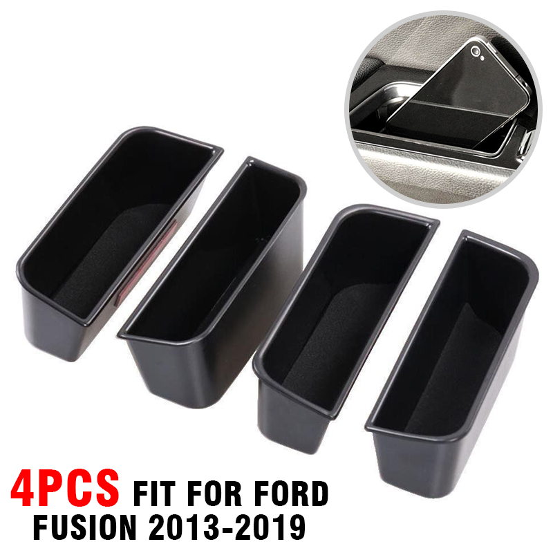 Stowing Tidying Container Armrest Door-Storage-Box Fusion Interior Abs-Plastic New Ford