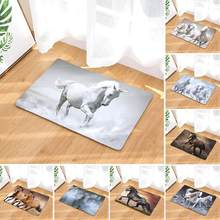 40x60cm Running Horse Water Absorption Non-slip Door Mat Floor Carpet Rug Bathroom Pad Home Supplies(China)