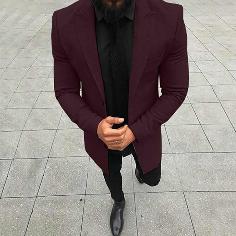 Joditty 2020 abrigo de lana delgado de invierno para hombres abrigo de lujo de alta calidad grueso cálido de un solo pecho informal de negocios chaqueta de Hombre Abrigos