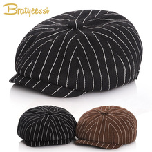 Fashion Baby Boy Hat Winter Autumn Cap for Vintage Newsboy Children Hats Kids Accessories 51/53