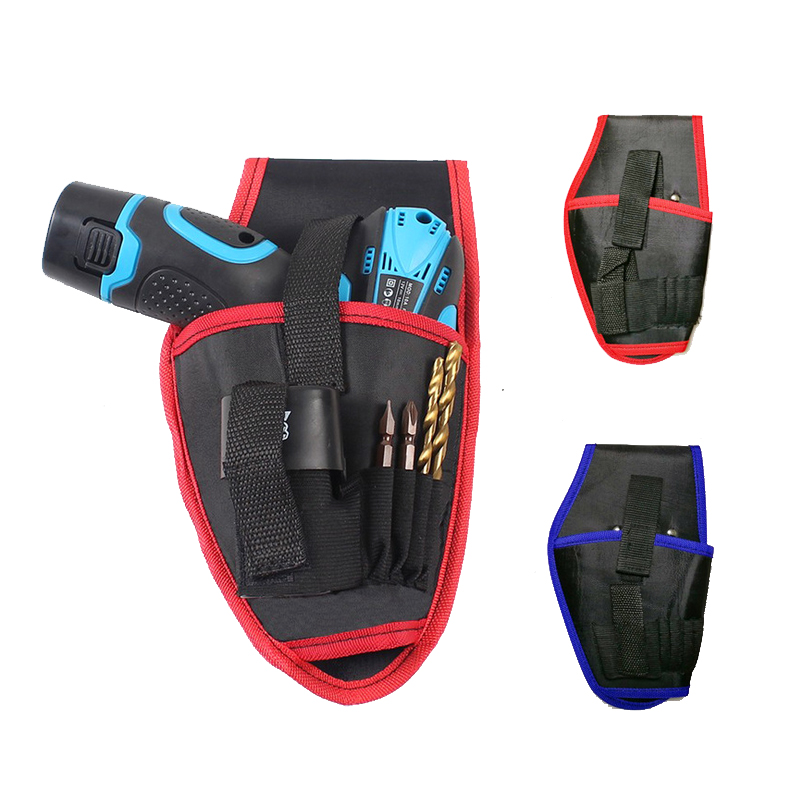 Wearable Waist Pack Electric Drill Bag Screws Nails Drill Bit Metal Parts Fishing Travel Tool Storage Bags With Belt Portable