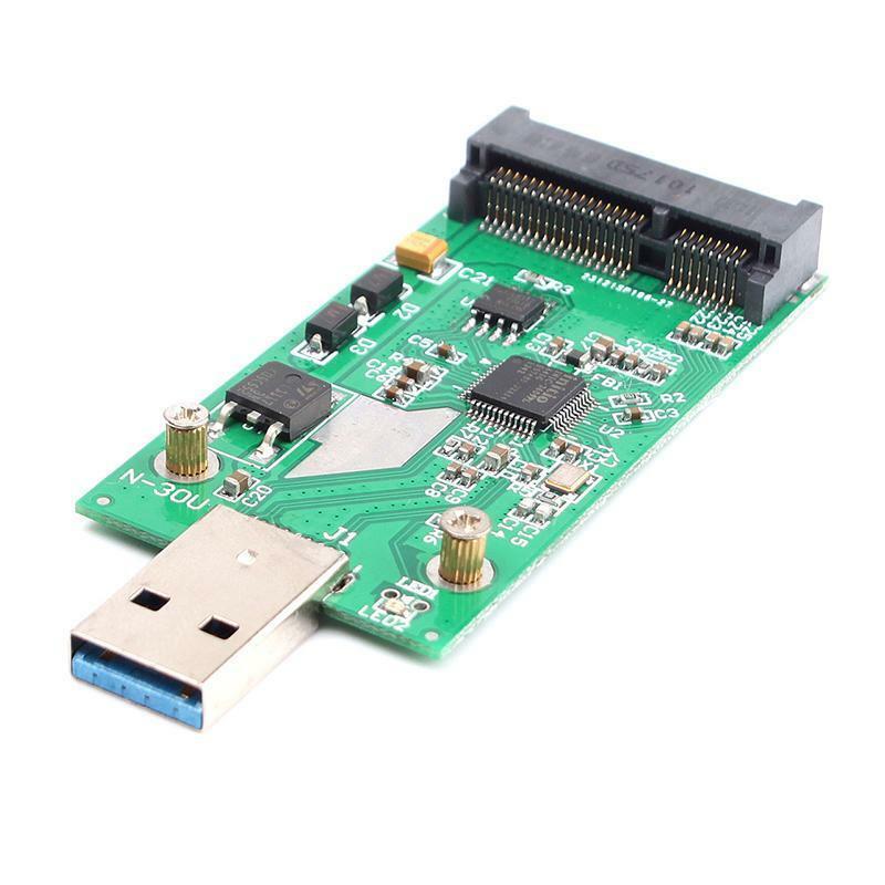 Mini USB 3.0 PCIe Msata External Hard Disk PCBA Converter Adapter Card