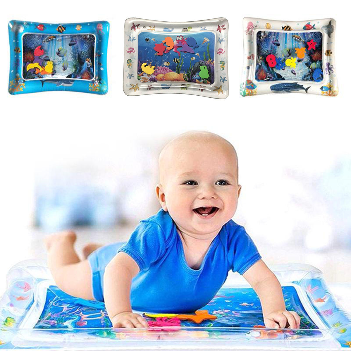 Free Shipping Baby Kids Water Play Mat Toys Inflatable Infant Tummy Time Toddler Activity Play Center Water Mat For Babies