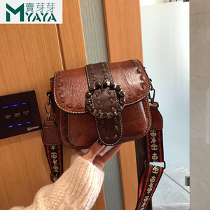 Image 2 - MAIYAYA Leather Shoulder Bag For Woman 2020 New Fashion Small Crossbody Bags Zippers Decoration Spring Flap Bags Messenger Bag