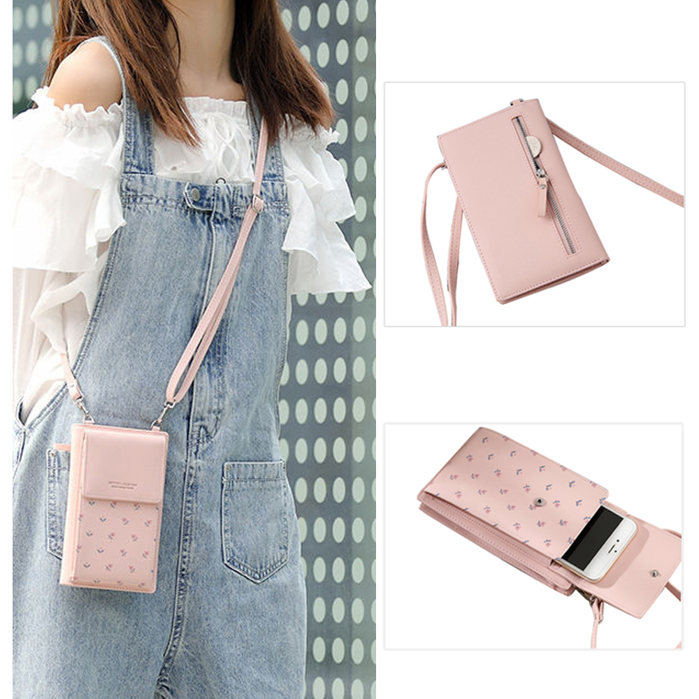 Multifunction Women PU Leather Shoulder Bag  High-capacity Female Money Clutch Phone Bag