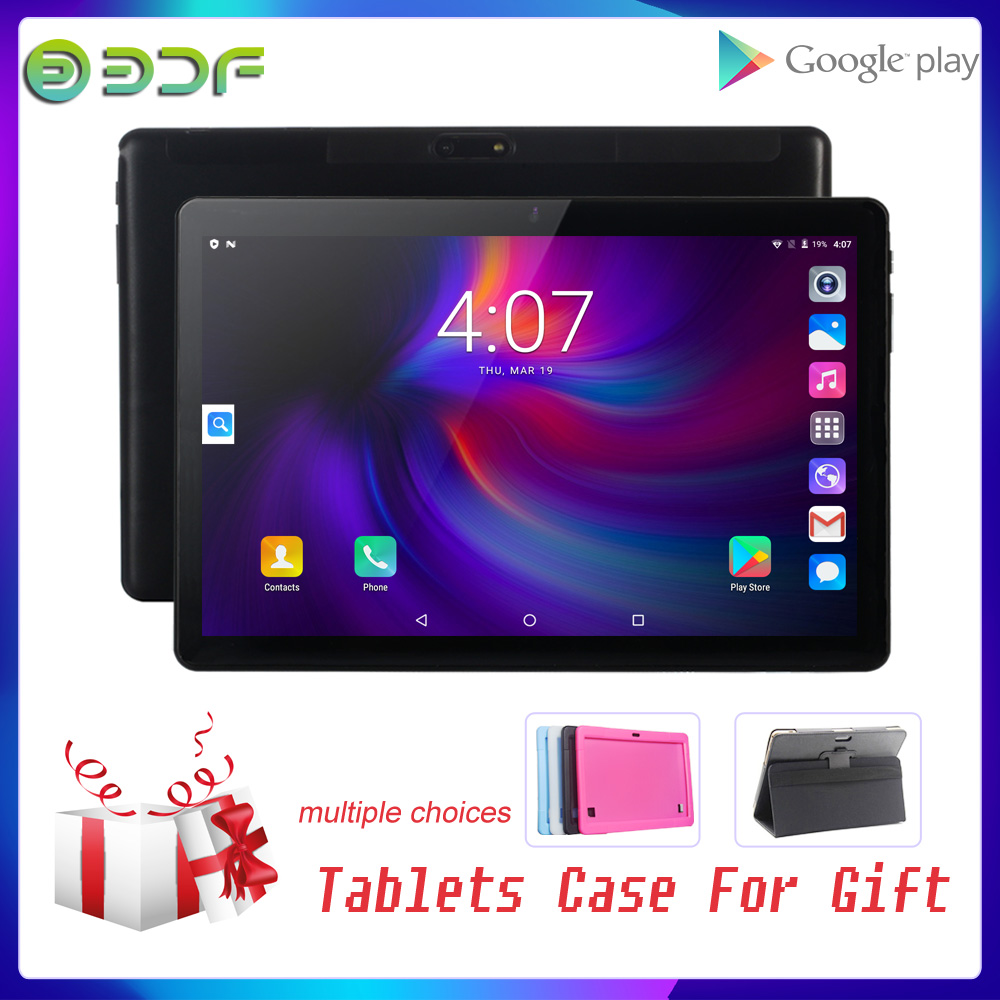 BDF Free Gift Android 7.0 10.1 Inch Phablet 3G Phone Dual SIM Card Phone Call IPS  GPS Kids 10 Inch Tablet PcWiFi Google Play