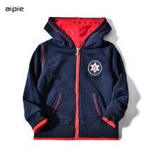Boys jackets New arrived Casual Zipper Cotton 100% Children hooded kids outwear & coats for 4-14 Year wear