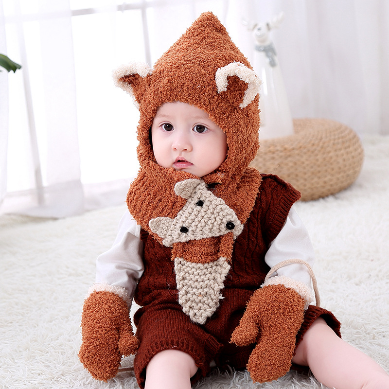 2019 New Maylisacc 3 Color 1-3 Years Old Children Hat Scarf Sets Autumn Winter Warm Knitted Hat Neck-scarf Sets For Kids